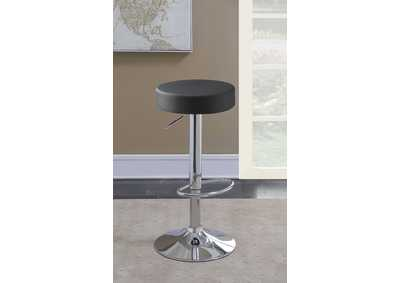 "Image for 29"" Adjustable Bar Stool Chrome And Black"