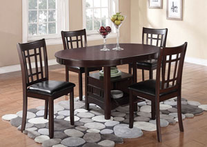 Image for Lavon Espresso Dining Table w/4 Side Chairs