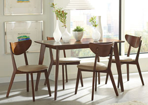 Image for Kersey Walnut Dining Table w/4 Side Chairs