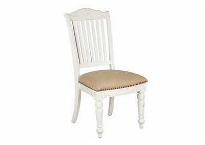 Simpson Slat Back Side Chairs Barley And Vintage White (Set of 2),Coaster Furniture