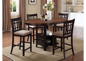 Image for Lavon Espresso Counter Height Table w/4 Stools