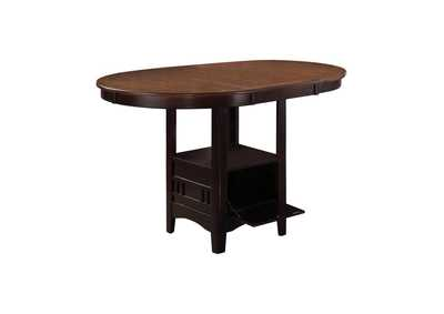 Image for Shingle Fawn Lavon Transitional Light Oak and Espresso Counter-Height Table