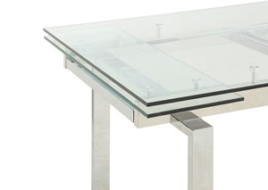 Gray Nurse Contemporary Wexford Chrome Dining Table