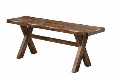 Image for Iroko Alston Casual Knotty Nutmeg Dining Bench