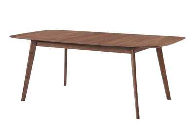 Leather Redbridge Mid-Century Modern Natural Walnut Dining Table,Coaster Furniture