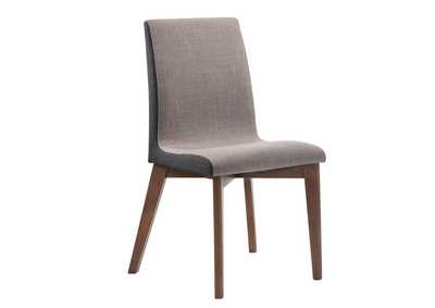 Redbridge Upholstered Side Chairs Grey And Natural Walnut (Set of 2),Coaster Furniture