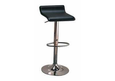 "Image for 29"" Upholstered Backless Adjustable Bar Stools Black And Chrome (Set of 2)"