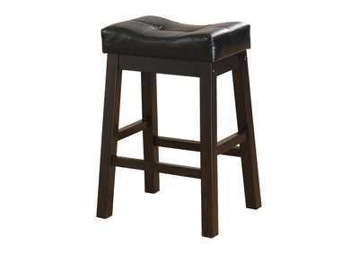 Image for Upholstered Counter Height Stools Black And Cappuccino (Set of 2)