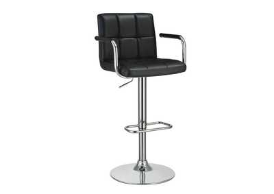 Adjustable Height Bar Stool Black And Chrome