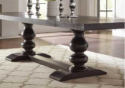 Cloudy Phelps Traditional Antique Noir Dining Table,Coaster Furniture