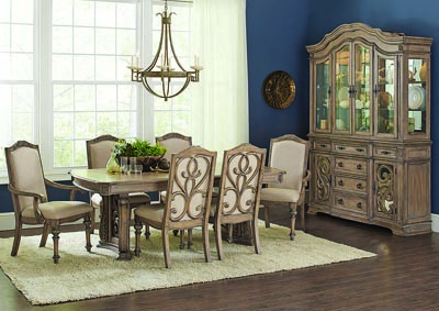 Image for Ilana Antique Linen China Cabinet