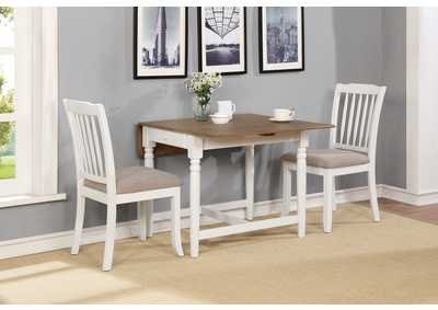 Hesperia Silver 3 Piece Dining Set,Coaster Furniture