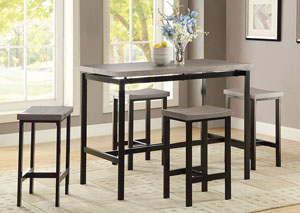 Image for Soft Amber Five-Piece Counter-Height Dining Set