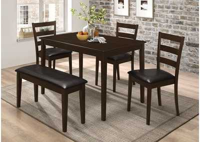 Image for Bistre Taraval Cappuccino Five-Piece Dining Set W/ Dining Bench