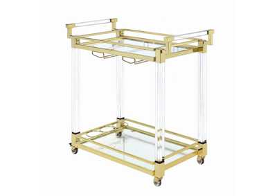 Image for Cultured Pearl Modern Clear Acrylic Serving Cart