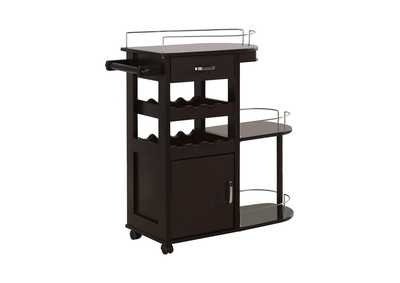 Image for Cappuccino Transitional Cappuccino Serving Cart