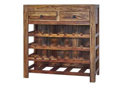 Image for Woody Brown Wine Cabinet