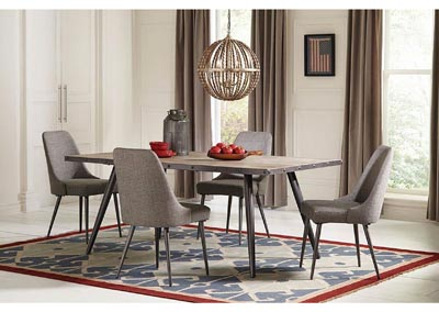 Levitt Upholstered Dining Chairs Grey (Set of 2),Coaster Furniture