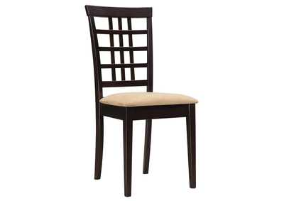 Kelso Lattice Back Dining Chairs Cappuccino (Set of 2)