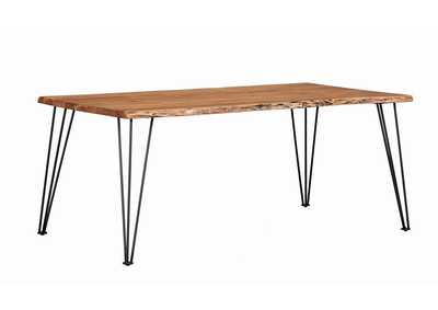 Chocolate Industrial Natural Acacia Dining Table
