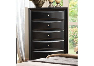 Image for Black Briana Five-Drawer Chest