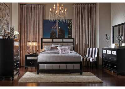 Cod Gray Barzini Transitional Queen Bed