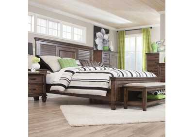 Image for Burnished Oak Franco Queen Bed