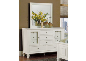 Image for Sandy Beach White Dresser w/Mirror