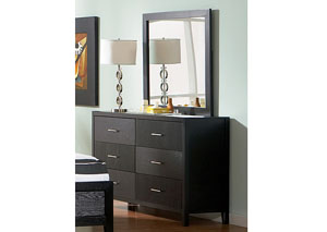 Image for Grove Black Dresser w/Mirror