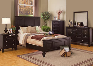 Image for Sandy Beach Cappuccino Queen Bed w/Dresser & Mirror