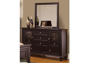 Image for Sandy Beach Cappuccino Dresser w/Mirror