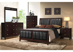 Image for Solid Wood & Veneer California King Bed w/Dresser & Mirror
