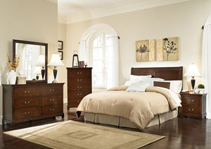 Image for Tatiana Espresso King Headboard w/Dresser, Mirror & Nightstand