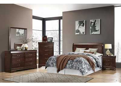 Image for Louis Philippe Cappuccino Queen Sleigh Headboard