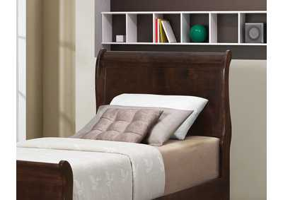 Image for Louis Philippe Cappuccino Twin Sleigh Headboard