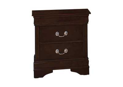 Oil Louis Philippe Two-Drawer Nightstand,Coaster Furniture