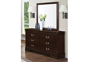 Image for Louis Philippe Cappuccino Dresser w/Mirror