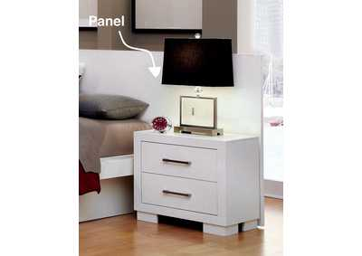 Image for Jessica Contemporary White Nightstand Panels [Set of 2]