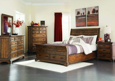 Image for Vintage Bourbon Queen Bed w/Dresser & Mirror