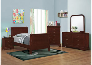 Image for Cherry Twin Bed w/Dresser & Mirror