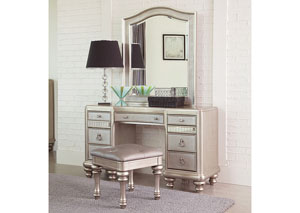 Metallic Platinum Vanity Set