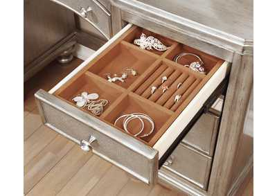 Metallic Bling Game Seven-Drawer Vanity Desk,Coaster Furniture