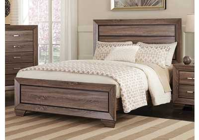 Image for Washed Taupe Kauffman Transitional Queen Bed