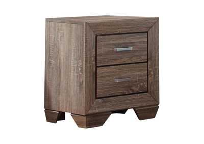 Washed Taupe Kauffman Transitional Two-Drawer Nightstand,Coaster Furniture