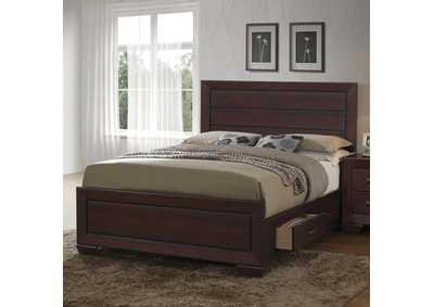 Dark Cocoa Fenbrook Transitional Queen Bed,Coaster Furniture