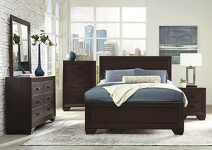 Image for Dark Cocoa Queen Panel Bed w/Dresser & Mirror