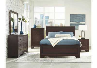 Image for Dark Cocoa Fenbrook Transitional California King Bed