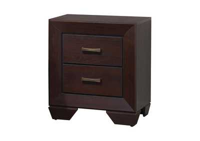 Dark Cocoa Fenbrook Dark Cocoa Two-Drawer Nightstand,Coaster Furniture