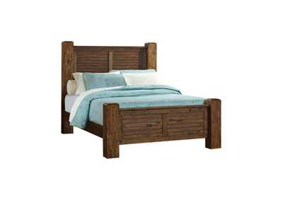 Quincy Sutter Creek Rustic Vintage Bourbon Queen Bed,Coaster Furniture