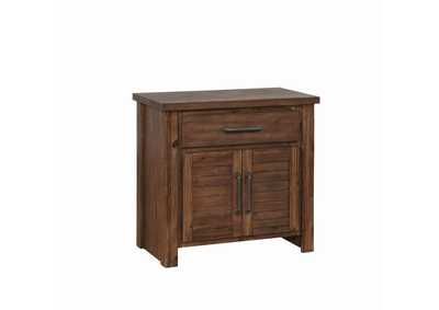 Saddle Sutter Creek Vintage Bourbon One-Drawer Nightstand W/ Two Doors,Coaster Furniture